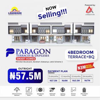 4 Bedroom Terrace, Few Minutes Away From Vgc Lekki Scheme 2, Lekki Phase 2, Lekki, Lagos, Terraced Duplex for Sale