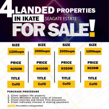 Very Hot Land, Seagate Estate, Ikate, Lekki, Lagos, Residential Land for Sale