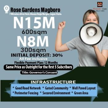 Serviced Plots of Land Selling, 7 Minutes From Alausa Ikeja/berger at Rose Gardens, Magboro, Ogun, Residential Land for Sale