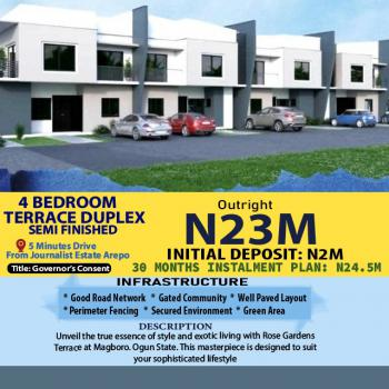 Luxury 4 Bedroom Semi Detached Duplex, 5mins Drive From Journalist Estate Arepo, Magboro, Ogun, Semi-detached Duplex for Sale