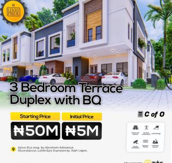 Luxurious 3 Bedroom Terrace Duplex + Bq, Abraham Adesanya Roundabout, Ajiwe, Ajah, Lagos, Terraced Duplex for Sale