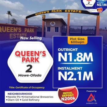 Dry Land with C of O, Mowe Ofada, Ogun, Residential Land for Sale