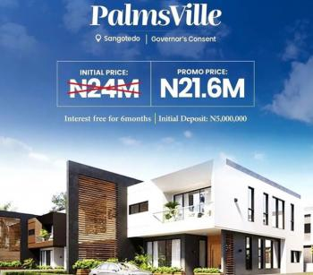 Own a Secure Investment in Gated Community, Estate 3 Mins Away From Novare Mall and 6min From Skymall, Sangotedo, Ajah, Lagos, Land for Sale