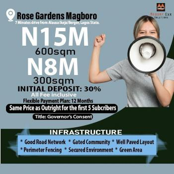 Plots of Land. All Charges Inclusive in The Price, 7 Minutes From Alausa Ikeja/berger Rose Gardens, Magboro, Ogun, Residential Land for Sale