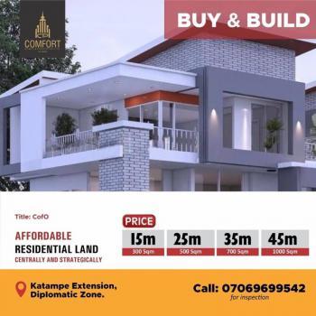 1000sqm for 6 Bedroom Detached Duplex, Katampe Extension, Katampe, Abuja, Residential Land for Sale