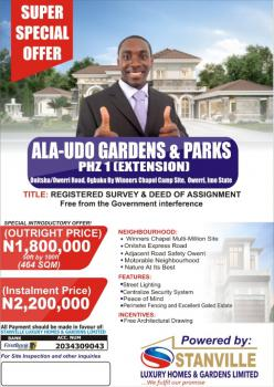 Affordable Land, Ala-udo Gardens & Parks Phase 1 Ogbaku, Owerri North, Imo, Residential Land for Sale