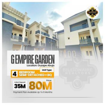 Contemporary 4 Bedroom Semi Detached Duplex with Bq, Guzape District, Abuja, Semi-detached Duplex for Sale
