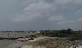 Water Front Land, Addo Road, Sharing Boundary with Lekki Palm City, Ado, Ajah, Lagos, Residential Land for Sale