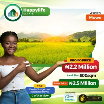 Plots of Land with Registered Survey and Deeds of Assignment, Opposite Christopher University (beside Rccg Youth Church Lagos Ibadan, Mowe Ofada, Ogun, Residential Land for Sale