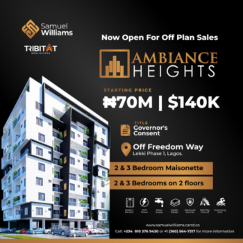 The Ambiance Height, Freedom Way, Lekki Phase 1, Lekki, Lagos, Terraced Duplex for Sale