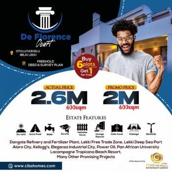 Buy 6 and Get 1 Free Land, De Florence Estate., Otolu, Dangote Refinery, Lekki Free Trade Zone, Lekki, Lagos, Residential Land for Sale