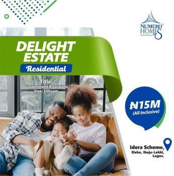 Delight Estate (directly Facing The Express), Lekki Epe Express Way, Eleko, Ibeju Lekki, Lagos, Residential Land for Sale