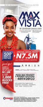 Buy a Plot of Land in Max Vista, Abuonu Ndiagu Amechi Enugu South Lga By Centenary City., Enugu, Enugu, Mixed-use Land for Sale
