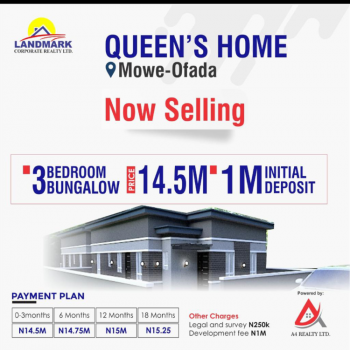These Swet Apartments Are Tucked in a Beautiful and Serene Environment, Inside Queens Park Estate at Orile Imo Around International  Breweries, Mowe Ofada, Ogun, Flat / Apartment for Sale