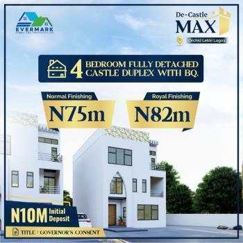 4 Bedroom Royal Finished Detached Duplex with Bq, De Castle Estate, Caribana, Awoyaya, Ibeju Lekki, Lagos, Detached Duplex for Sale