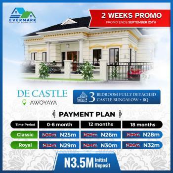 3 Bedroom Fully Detached Bungalow +bq, De Castle, Awoyaya, Ibeju Lekki, Lagos, Flat / Apartment for Sale