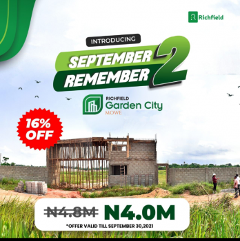 September to Remember with 16% Off on This Fast Emerging Location, 10 Minutes' Drive From Rccg Redemption Camp, Mowe Town, Ogun, Mixed-use Land for Sale