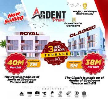 3 Bedroom Terrace with Bq, Governor Consent, Bogije, Ibeju Lekki, Lagos, Terraced Duplex for Sale