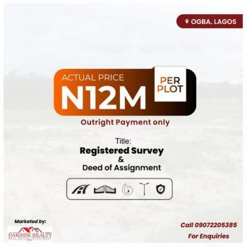 Own a Plot of Land, Adeyinka Adisa Street, Ogba, Ikeja, Lagos, Mixed-use Land for Sale