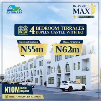 4 Bedrooms Terrace Castle Duplex, De - Castle Luxury Estate, Orchid Road , Opposite Cooplag Lekki Phase1, Lafiaji, Lekki, Lagos, Terraced Duplex for Sale