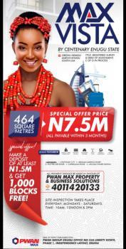 Buy a Plot of Land, Max Vista Abuonu Ndiagu Amechi Enugu South Lga By Centenary City, Enugu, Enugu, Mixed-use Land for Sale