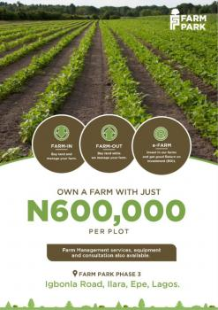 Farm Park Land, Igbodu, Epe, Lagos, Commercial Land for Sale
