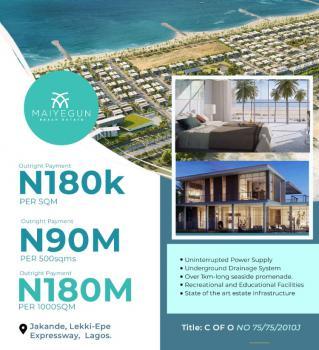 Residential Land, Maiyegun Beach Estate, Jakande, Off Lekki- Epe  Expressway, Jakande, Lekki, Lagos, Mixed-use Land for Sale