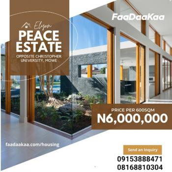 Plots of Dry Land Available in a Secured Environment, Opposite Christopher University, Mowe Town, Ogun, Residential Land for Sale
