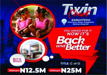 Land, Twin Court, Off Monestery Road, Behind Shoprite, Sangotedo, Ajah, Lagos, Residential Land for Sale