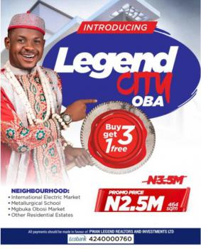 Plots of Residential Lands in an Estate, Legend City, Oba, Idemili, Anambra, Mixed-use Land for Sale