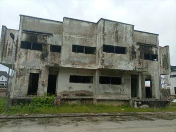 Carcass 4 Bedroom Semi-detached Duplex + Bq, Diamond Estate, Sangotedo, Ajah, Lagos, Semi-detached Duplex for Sale