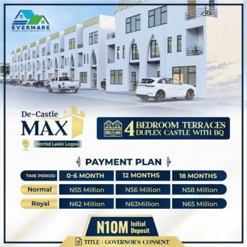 4 Bedrooms Terraced Castle Duplex + Bq, De Castle Max, Lekki, Lagos, House for Sale