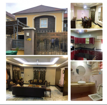 Exquisite Furnished 4 Bedrooms Semi Detached with Bq, Naf Valley Estate, Asokoro District, Abuja, Semi-detached Duplex for Sale