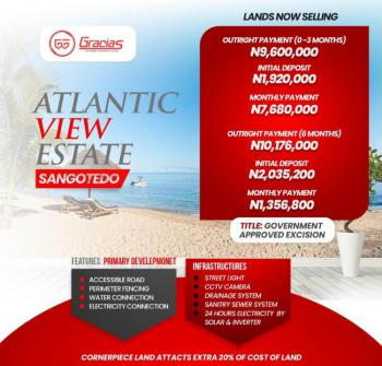 Are You Looking to Invest in a Beachfront Property with High Roi, Atlantic View Estate, Off Monastery Road, Sangotedo, Ajah, Lagos, Residential Land for Sale
