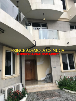 High End 3 Bedroom Terrace House + 2bq+ Pool+gym, Off Queensdrive, Old Ikoyi, Ikoyi, Lagos, Terraced Duplex for Rent