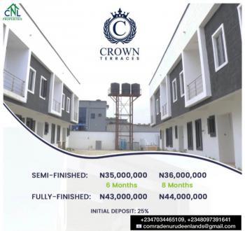Luxury Fully Finished 4 Bedrooms Terraces, Crown Terraces, Vintage Estate, Sangotedo, Ajah, Lagos, Terraced Duplex for Sale