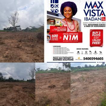 Plots of Land, Akufo Ibadan, in Max Vista Estate, Ido, Oyo, Residential Land for Sale