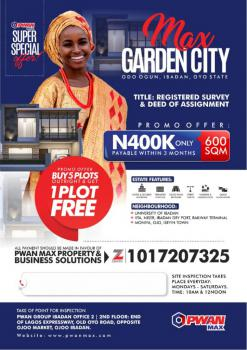 Plots of Land, Odo-ogun, in Max Garden City, Iseyin, Oyo, Mixed-use Land for Sale