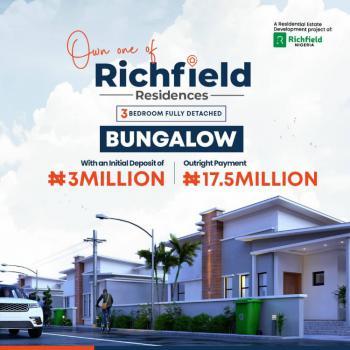 Brand New 3 Bedroom Fully Detached Bungalow, Richfield Gardens, Off Abeokuta-lagos Express, Midgal, Abeokuta South, Ogun, Detached Bungalow for Sale