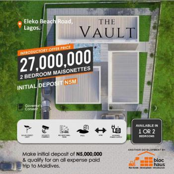 2 Bedroom Maisonette with Governors Consent, Eleko Beach Road, Eleko, Ibeju Lekki, Lagos, Terraced Duplex for Sale