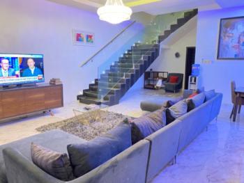 Beautiful Three Bedrooms Detached Duplex with Office Space, Chevron Drive, Lekki, Lagos, Detached Duplex Short Let