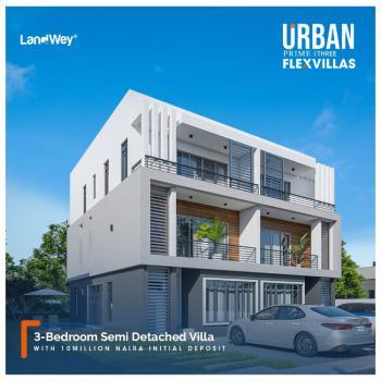 3 Bedroom Semi Detached Villa, Urban Prime Three Flex Villas, Abraham Adesanya, Ogombo, Ajah, Lagos, Semi-detached Duplex for Sale