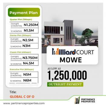 Plots of Land, Milliard Court, Mowe Ofada, Ogun, Residential Land for Sale