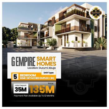 5 Bedroom Semi Detached Duplex + Bq, G Empire Smarthomes, Durumi, Abuja, Semi-detached Duplex for Sale