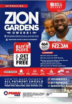 Buy Plots of Land, Zion Gardens, Umuokanne Oforola, Ohaji Lga, Owerri West, Imo, Mixed-use Land for Sale