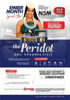 Plots of Land, The Peridot, Oba, Anambra, Anambra, Residential Land for Sale