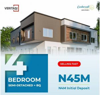 Affordable 4 Bedrooms Semi-detached Duplex with Bq in a Safe Estate, Abijo, Lekki, Lagos, Semi-detached Duplex for Sale