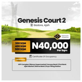 The Best Gated Community in Ajah, Badore Ajah, Ajah, Lagos, Residential Land for Sale