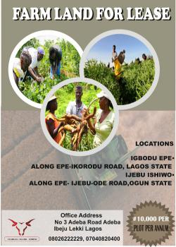 Farm Land for Lease, Epe, Lagos, Commercial Land for Rent