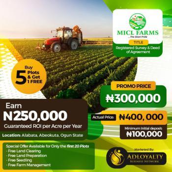 Micl Farmland, Alabata, Abeokuta North, Ogun, Land for Sale